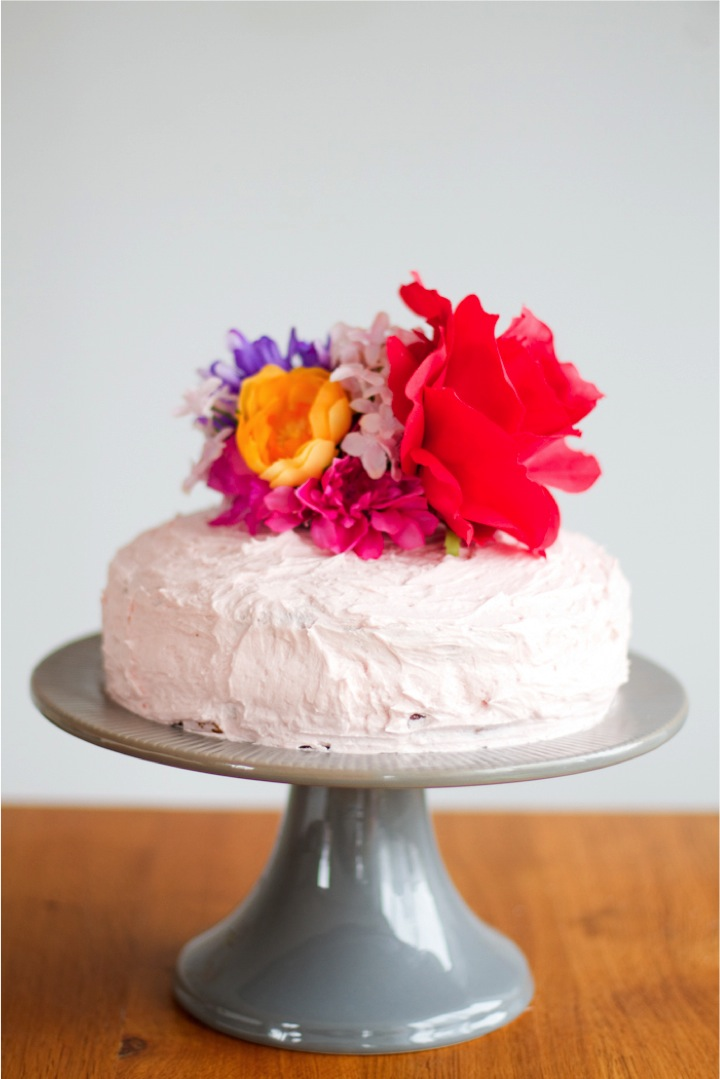 Rock It Yourself Artificial Flower Cake Topper This Little Street