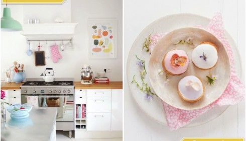 pastel kitchen and pastries