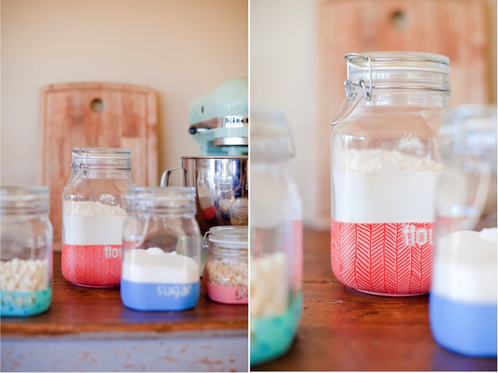 DIY Dipped Kitchen Jars This Little Street This Little Street Classy Ways To Decorate Glass Jars