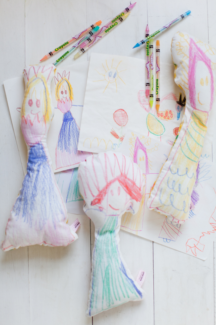 DIY Fabric Dolls From Your Kids Drawings