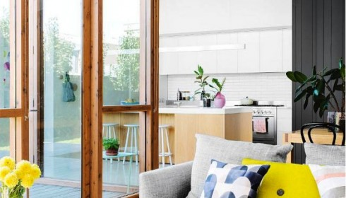 mid-century modern and yellow
