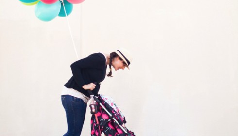 in love with this flamingo fling stroller by Cosatto