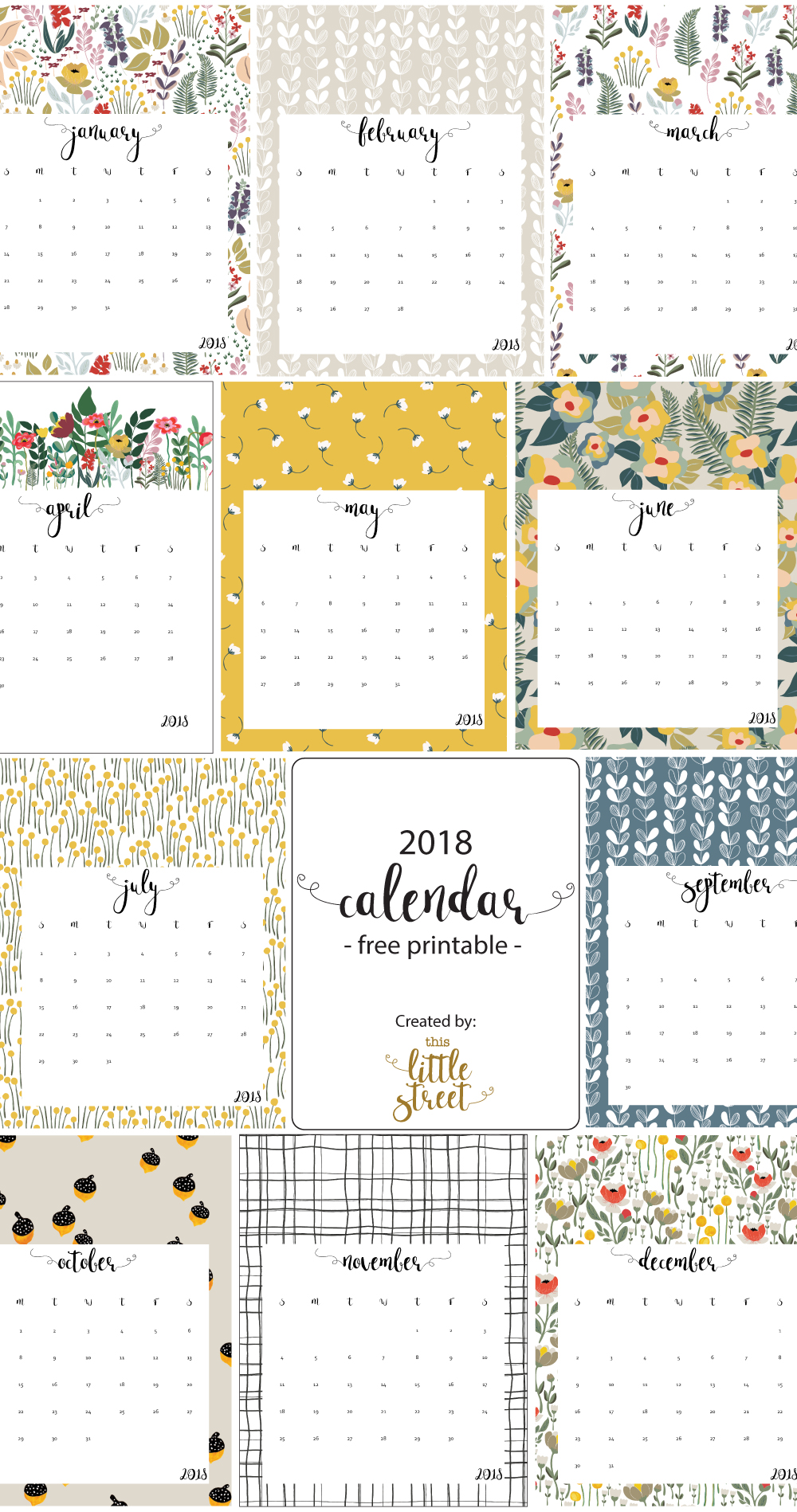 Download Our 2018 Free Printable Calendar!