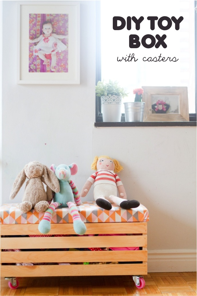 Lovely Rock it yourself} DIY toy box with casters | This Little street  CA54